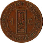 1892 French Indo-China (Indochina) 1 Cent Large Coin Paris Mint KM#1