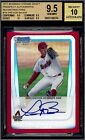 Trevor Bauer 2011 Bowman Chrome Draft Red Refractor Autograph Auto BGS 9.5 5