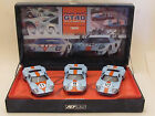 FLY Historic Collection Team Gulf Ford GT40 1968 24h Le Mans 3 SlotCar Set 1:32