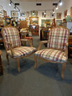 Pair Classic Country French Provincial Carved Bergere / Fauteuil Arm Chair