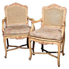 Pair of French Caned-back Armchairs  102-259