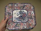 VINTAGE 19 C HAND PAINTED RECTANGLE PLATE/TRAY BLUE/WHITE JAPAN IMARI