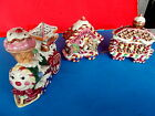 Fitz & Floyd Candy Lane Depot and Train XX Rare Christmas 3pc.