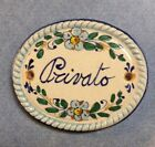 Vietri Pottery-4,3/4x3,7/8 inch Privato wall plaque.Made/Painted in Italy