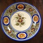 Vintage Large Blue CHARGER WALL HANGER PLATE Pottery Ceramic 12