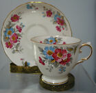 BEAUTIFUL,TUSCAN  VINTAGE  CUP AND SAUCER ,FLORAL #9124 ,ENGLAND,RARE
