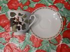 Queen's Hooker's Fruit Black Cherry Tea Cup And Saucer Free Shipping!