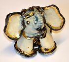 Elephant Figure Ceramics coating Painted Hand Made Design