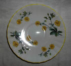 0705 Royal Stafford Saucer, Made in England, Bone China, Bright Yellow Flowers