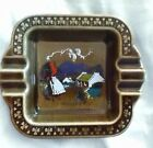 WADE IRISH PORCELAIN COLLECTIBLE  COTTAGE SCENE VINTAGE ASHTRAY /  TRINKET DISH