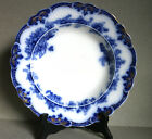 1 FLOW BLUE HAMPTON RIMMED SOUP BOWL 9 INCHES GRINDLEY  Co ENGLAND 5 AVAILABLE