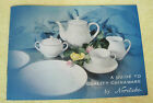 Vintage 50s Noritake China A Guide to Quality Chinaware Booklet Advertisment T14