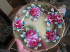 BEAUTIFUL ANTIQUE NIPPON HAND PAINTED PLATE SIGNED w/OLD MARK MAPLE LEAF