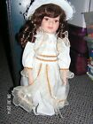 Cathay Collection Porcelain Doll 16 Inch Victorian Style with White Dress