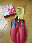 Vintage Girl Scouts Chow Kit Knife Fork Spoon Stainless Steel Vinyl Case in BOX