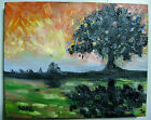 ORIGINAL AMERICAN OIL PAINTING BY WYOMING ARTIST MIKE KARR!! SUNSET BURN