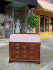 Grand Mahogany Chippendale Slant Front Secretary with Brass Hardware19th century