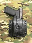Black Carbon Fiber Kydex Light Holster Glock 20 21 Streamlight TLR 1s TLR1