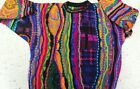 Australian Large Multicolored Wool Vintage Coogi Biggie Style Wearable Art