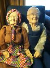 Grandma & Grandpa Ceramic Doll Set In Very Good To Excellent Conditi