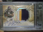 2008 EXQUISITE SILVER HOLOFOIL PERCY HARVIN ROOKIE PATCH AUTO RC 99 BGS 9 10 $$