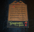 Vintage Samuel Johnson 1777 Quote Seagram's 7 Wooden Wall Sign Wood Plaque