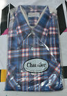 NIP Chandler Cotton Flannel True Vtg Button Down Shirt Rockabilly Plaid 1950s