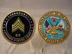 USA Army Sergeant SGT E-5 Challenge Coin United States Military Sarge E5 Enlist