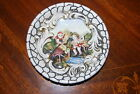 WONDERFUL CAPODIMONTE HAND PAINTED FIGURE ENCRUSTED PORCELAIN CABINET PLATE