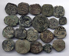 *LORACWIN* AWESOME LOT OF 20 PIRATE COBS SPANISH COLONIAL COINS