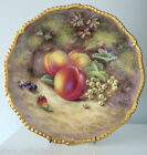 Royal Worcester Hand Painted Fruit Plate Signed Harry Ayrton