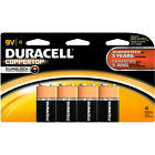 9 Volt (9V) Duracell Batteries,2 PACKS OF 4, TOTAL OF 8 BATTERIES,RETAIL READY !