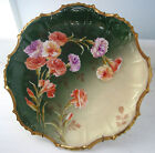 BEAUTIFUL,ANTIQUE B&H  LIMOGES FRANCE HAND PAINTED SIGNED CABINET PLATE 9 5/8