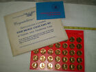 Franklin Mint Shell Oil Solid Bronze 1968 Presidential Coins Complete Set Of 36