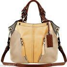 NWT Oryany Pebble Leather Colorblock Victoria Hobo - Custard Multi - $189.00