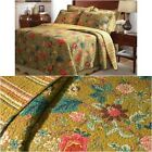 Bedding Quilt Set Twin Full/Queen King 100 Percent Cotton Fabric Blossoms Floral