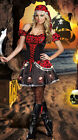 Sexy Adult Captain Pirates Costume Skull Fancy Dress Caribbean Cosplay Outfit M