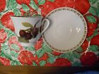 Queen's Hooker's Fruit Plum Tea Cup And Saucer Free Shipping!