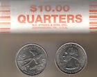 2008P Oklahoma Heads/Heads Statehood Quarter Roll Uncirculated Collectible Coins