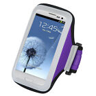 Purple Sports Gym Universal Pouch Arm Case for HTC One X Evo 4G LTE Evo 3D