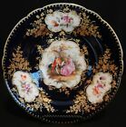 Antique Sevres Type Paris Porcelain Cobalt & Gold Porcelain Cabinet Plate