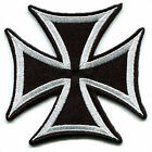 Maltese Iron Cross Embroidered Patch Motorcycle Biker