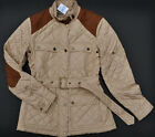 NEW RALPH LAUREN WOMEN QUILTED SUEDE BELTED BARN JACKET COAT EQUESTRIAN  ~SIZES