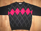 Rafaella Argyle Long Sleeve  Lambs Wool / Angora Rabbit Hair Sweater - Sz M Pet