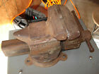 ANTIQUE SIMPLEX UTILITY ANVIL VISE DESMOND STEPHAN SWIVEL BASE JAWS OPEN 4-1/2