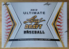 2012 Ultimate Leaf Draft Baseball Sealed HOBBY Box Pack 5 Auto Yasiel Puig?