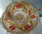 BEAUTIFUL ,VINTAGE  ROYAL CHELSEA CUP AND SAUCER  , ENGLAND, RARE, GOLD GILD