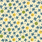 ABC 123  Moda Fabric Cotton Quilt American Jane 1/2 yd Ivory Floral 21627-18