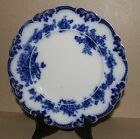 ONE FLOW BLUE PLATE 9 INCHES HAMPTON SPRAYS GRINDLEY & Co ENGLAND