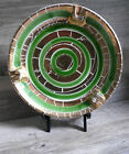 Vintage Ashtray Nice Trinket Dish Vibrant Green & Gold Marked Italy Mid Century